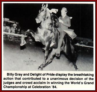 Delight Of Pride and Billy Gray in action.
