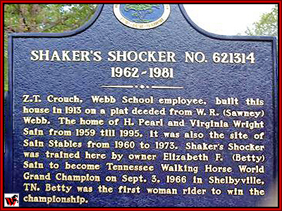 Bedford Historical Marker for Shaker's Shocker