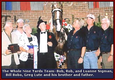 The Whole Nine Yards Team - Bob, Rob and Luanne Sigman, Bill Bobo, Greg Lute, his brother and his father.